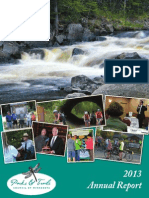 Parks & Trails Council of Minnesota Annual Report 2013