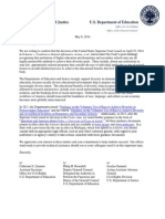 DOJ/DOE Letter on Affirmative Action