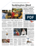 Washington Post Front Page May 6