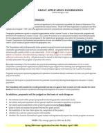 Luzerne Foundation Grant Application