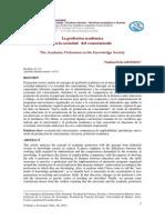 20 ARONSON PERLA La Profesion Academica en La Sociedad Del Conocimiento (1)