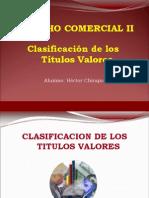Derecho Comercial - Clasificacion de Titulos Valores