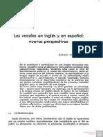 Las Vocales en Ingles y en Espanol Nuevas Perspectivas