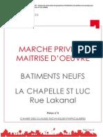 Cctp Moe - La Chapelle St Luc - Rue Lakanal
