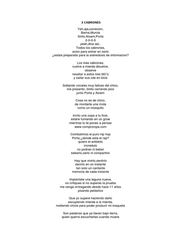 Antes de las seis lyrics english
