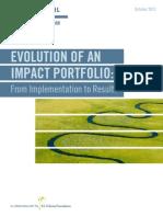 2013 10 Evolution of an Impact Portfolio Final