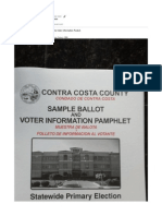 Contra Costa County Voter Information Packet Ommission