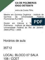 Polímeros Aula Nº 01 2014.1