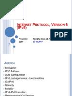IPv6 Presentation