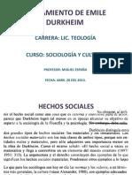 Pensamiento de Emile Durkheim