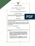 Mintrabajo Res 1356 2012 Comite de Convivencia Laboral