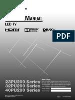 Toshiba PU 200 ZE User manual