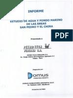 Estudio de Agua y Fondo San Pedro y Chira