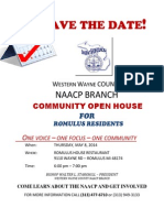 Save the Date 2014 Wwc Romulus Open House