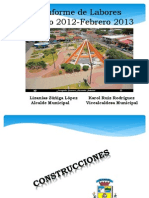 Informe de La Alcaldia Cañas 2012-2013