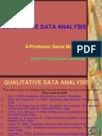Qualitative Data Analysis