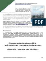 ONERC Resume Decideurs Vol3 AR5 Fr Non Officielle V3
