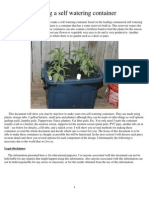 Making a Self Watering Container for Drought Gardening