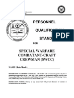 NAVEDTRA 43403-C Personnel Qualification Standards for Special Warfare Combatant Crewman