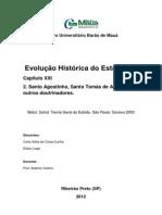 Evolucao Historica Do Estado - Santo Agostinho e s.toas de Aquino