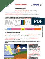Espectro solar e o balanço térmico (10.º)