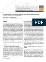 An Introduction to Methods for Analyzing Thiols and Disulfides Reactions,