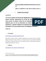 Bases de Datos Repositorios y Patentes Sistematizados