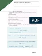 Ficha de Trabalho 12º 1 Estudo de Funções