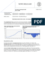 Unemployment Data Released November 6 2009