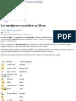 Los emoticonos escondidos en Skype « Windows Live Messenger (MSN Messenger) Facebook y + del Messenger