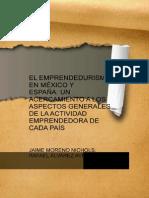 El Emprendedurismo en Mexico y Espana Un Acercamiento a Los Aspectos Generales de La Actividad Emprendedora de Cada Pais