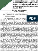 Decreto Supremo N 015 2014 EF PI