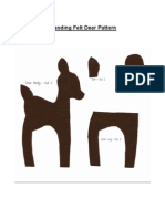 Standing Felt Deer Pattern