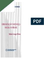 OLIVEN Ruben Urbanizacao e Mudanca Social No Brasil