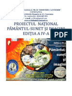 Proiect National Pamantul-sunet Si Imagini -Editia a IV-A -2013-2014
