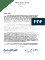 Mikulski Collins Letter