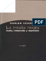 Leader, Darian - La moda negra. Duelo, melancolía y depresión (2011)