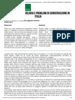 L'AQUILA REALE. Biologia e problemi di conservazione in Italia