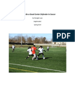 How to Be a Good Center Defender in Soccer