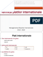 Tehnica Platilor Internationale