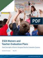 ESEA Waivers and Teacher-Evaluation Plans