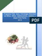 Orientaciones Programa Vida Sana 2013