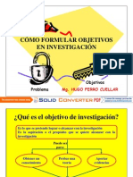4ta. Sesion - Objetivos de Investigacion