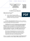 Letter Citing Supplemental Authority in Sevcik v. Sandoval before the Ninth Circuit Court of Appeals