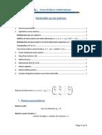 Generalites Sur Matrices
