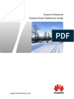 Huawei Enterprise Product Quick Reference Guide
