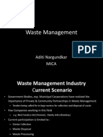 Waste Management Aditi Nargundkar MICA