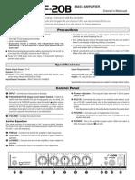 Yamaha F-20 User Guide