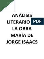 Análisis Literario de La Obra Literaria María de Jorge Isaacs