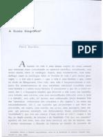 BOURDIEU, P. a Ilusão Biográfica